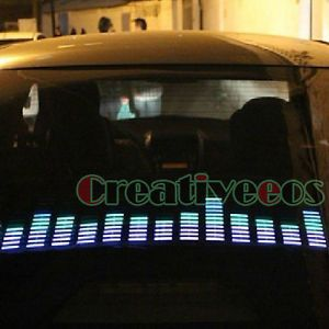 90x25cm Cool Car Charge Audio Voice Control Sensor Music Rhythm LED Light Lamp
