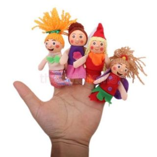 Set of 4pcs Mini Lovely Finger Puppets Toy Preschool Teach Kids Hand Toys New