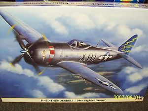 "Hasegawa 1 32 P 47D Thunderbolt ""79th Fighter Group"" Model Airplane Kit 8187"