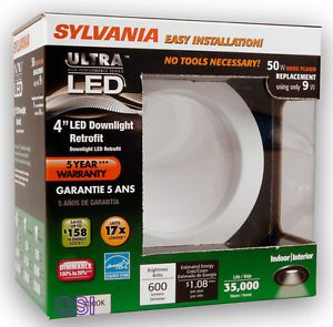 Sylvania White 4 in Integrated LED Remodel Recessed Lighting Kit 70733