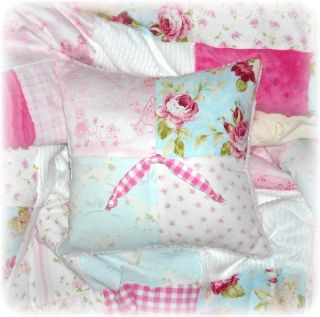 Little Lambs Roses Chenille Baby Crib Quilt Bedding