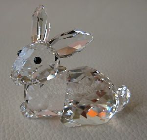 Swarovski Crystal Rabbit Lying Figurine 905778 New Box RARE Retired Collectible