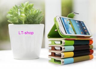 1pc Wallet Pouch Stand PU Leather Case Cover for Samsung Galaxy Note 2 II N7100