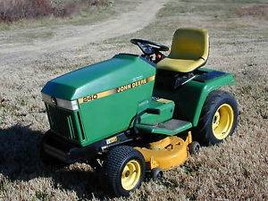 "John Deere 240 Tractor Riding Lawn Mower 14HP Kawasaki 38"" Deck 6 Speed"
