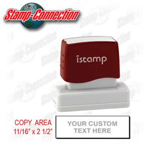 iStamp 14 Pre Inked 4 Line Custom Text Stamp