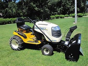 "Cub Cadet Super LT1554 54"" Deck Riding Lawn Mower with 42"" Snow Thrower"