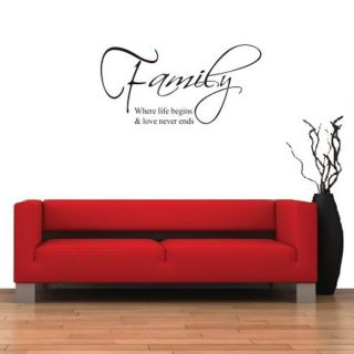 Proverbs Family DIY Removable Art Vinyl Quote Wall Sticker Decal Mural Home Room