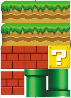 Giant Super Mario Removable Nursery Wall Stickers Kids