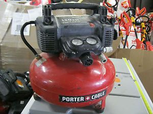 Porter Cable Electric Portable Air Compressor 6 Gal Tank 150 PSI Oil Free Nice