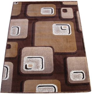 Modern Contemporary Carved Woven 6x8 Area Rug Brown Actual Size 5'3 x 7'2