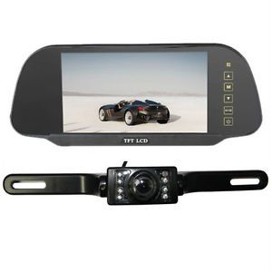 "7"" TFT LCD Car Reverse Rearview Color Mirror Monitor Car Backup Camera System"
