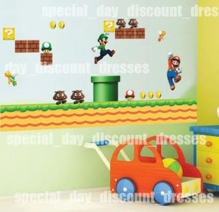 Super Mario Bro 42x56 Kids Wall Decal Sticker