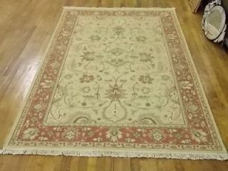 Indian Soumak Flat Weave Rug Gold Rust 5 1 x 7 11 ft Long