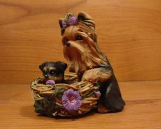 Original Yorkie Yorkshire Terrier Dog Nest Sculpture Claydogz Mandyo OOAK