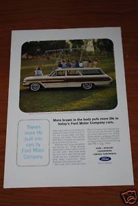 1964 Ford Country Squire Wagon Vintage Ad 64 390 Info