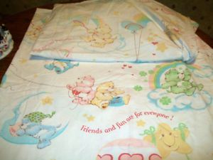 Vintage Care Bears Twin Size Sheets Bedding