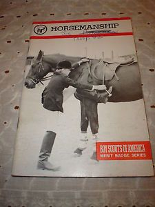 MB Horsemanship BSA Merit Badge Series Book Pamphlet Great Boy Scouts 64 Pgs