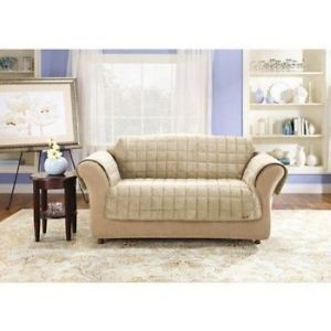 Sure Fit Deluxe Pet Fort Sofa Slipcover Ivory