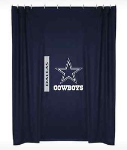 Dallas Cowboys NFL Locker Room Shower Curtain Sports Coverage