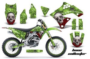 AMR Racing Dirt Bike Number Plate Decal Graphic Wrap Kawasaki KXF 250 09 12 BCG