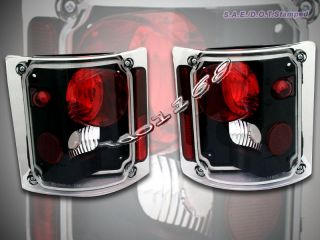 73 84 86 87 Chevy GMC C10 C 10 Truck Black Tail Lights