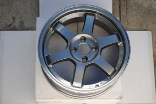 "16"" Grid Gunmetal Wheels Rims 4x100 4 Lug Honda Civic Fit CRX Del Sol SI GSR"