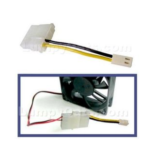 4 Pin to 2 Pin Fan Converter Cable Adapter Free SHIP