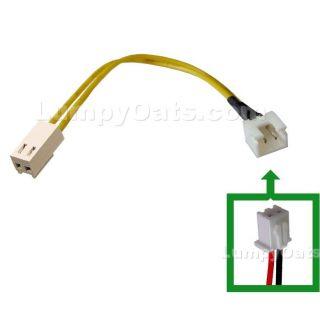 2 Pin 2 50mm to 2 Pin Fan Adapter Cable