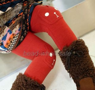 Lovely Kids Toddlers Girls Cute Cotton Rabbit Winter Thick Leggings Pants