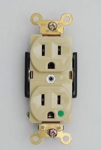Hospital Grade Heavy Duty Duplex 15A Receptacle 5 15R Outlet 125V Plug Ivory