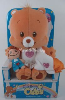 Care Bears Tenderheart Cub Play Along 2005 Brown with Blanket Doll Toy