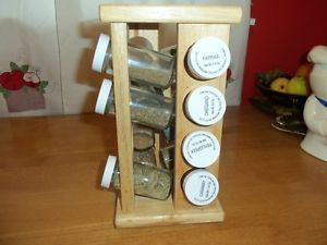 Vintage Winsome Wood Lazy Susan Display Table Shelf Spice Rack