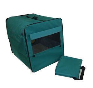 Dog Cat Pet Bed House Soft Carrier Crate Cage w Case