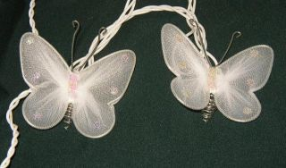 Butterfly Sheer White Organza String Lights Wedding