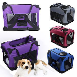 4 Size 4 Colors Portable Pet Dog House Soft Crate Carrier Cage Kennel US Stock
