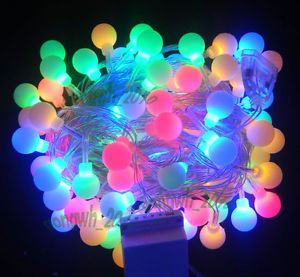 10M Multicolor 100 Ball LED String Light Christmas Decoration Light Attachtable