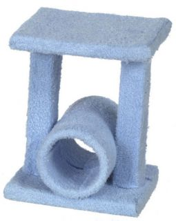 Dollhouse Miniature Kitty Cat Playhouse Pet Toy Blue Toy House