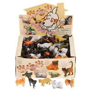 "Huge Lot of 144 2 25"" Assorted Kitty Cat Dog Puppy Plastic Toys Figures New"