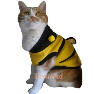 Pet Dog Cat Supplies Clothes Apparel Honey Bumble Bee Design Dress Up Costume