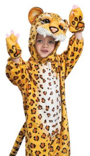 Kids Leopard Outfit Jungle Cat Animal Halloween Costume