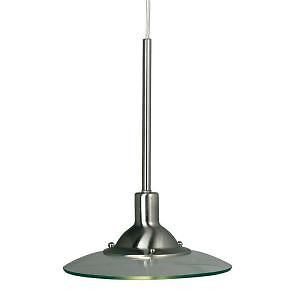 Hampton Bay 383586 1 Light Hanging Brushed Steel Linear Track Pendant