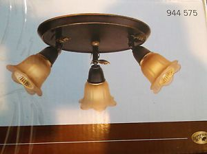 Hampton Bay Bronze 3 Light Canopy Track Lighting Fixture 944575