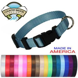 Deluxe Nylon Dog Collars Various Colors Sizes Available
