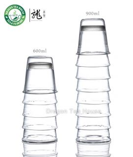 Babel Clear Glass Water Bottle Stackable Cup Set