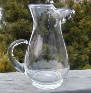 Antique Clear Depression Glass Crystal 2Q Water Pitcher