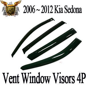 Smoke Vent Window Shades Visors Rain Guards OEM for 2006 2012 Kia Sedona