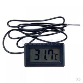 5X Mini Digital LCD Display Thermometer for Refrigerator Fridge Freezer Chillers