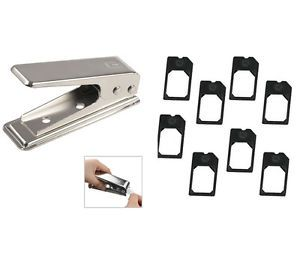 Stainless Micro Mini Sim Card Cutter for Apple iPhone 4 4S 8 Adapters