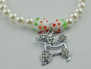 Charm Beads Necklace Coloured Glaze Strawberry Dog Tags Pet Dog Cat Collars P27