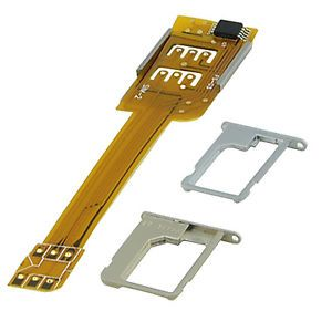 Dual Sim Card Adapter for Apple iPhone 5 5g iPhone 4 4S Use Two Sim Card Now